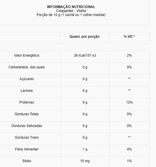 Colagentek 30 sachês - Vitafor