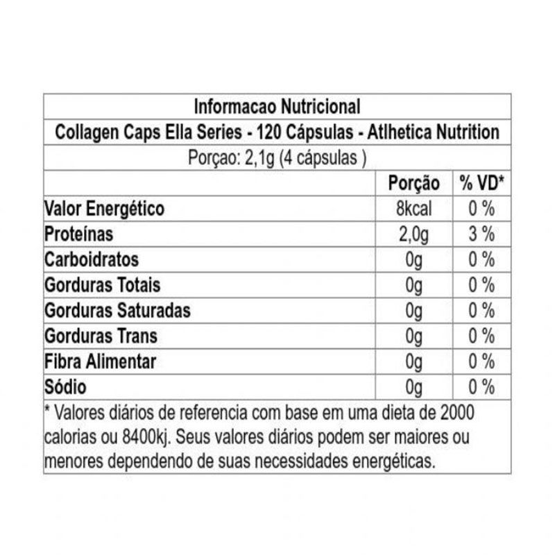 Collagen Caps 120 cápsulas - Atlhetica Nutrition