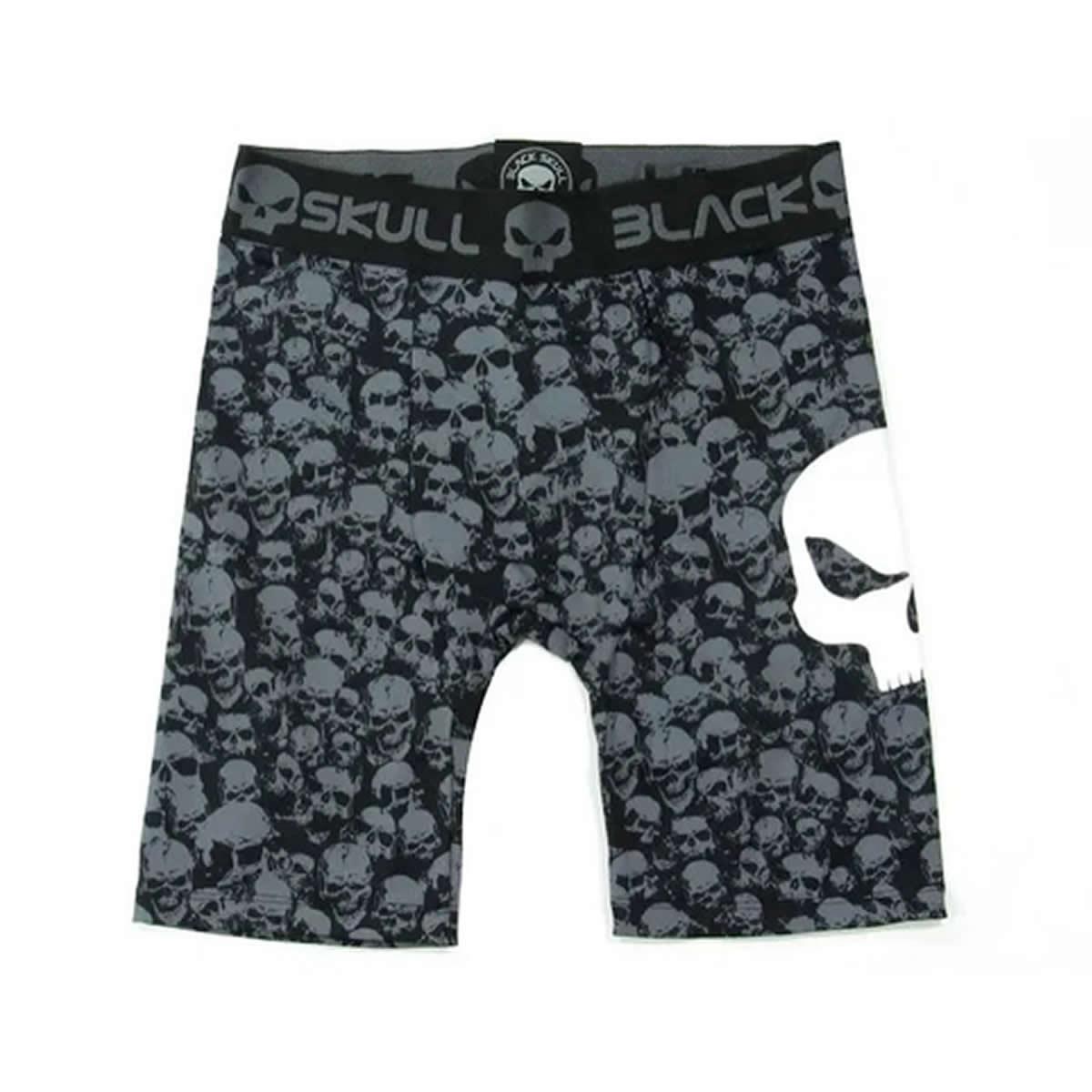 Compression Shorts Man Skull Preto - Black Skull