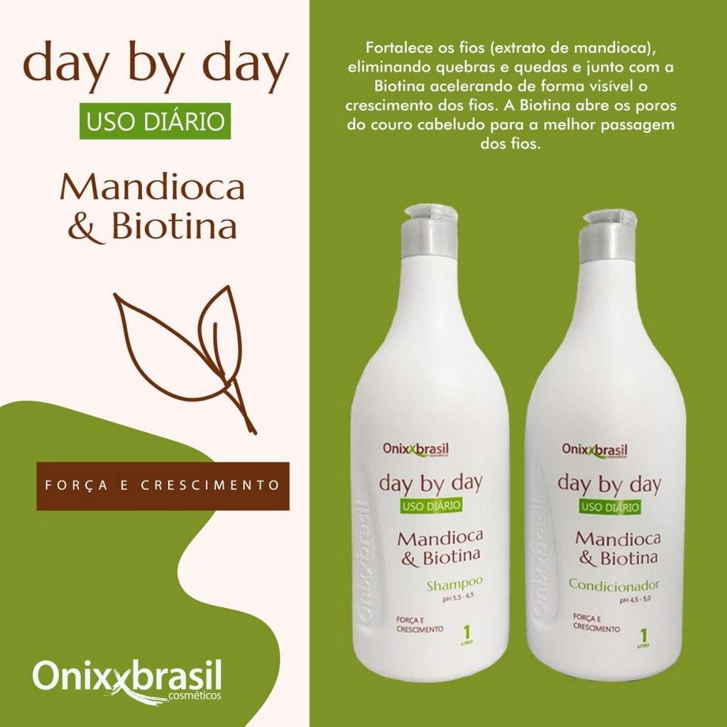 Condicionador Mandioca E Biotina  Day By Day 1L - Onixxbrasil