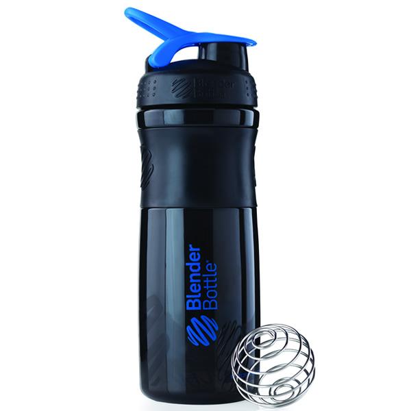 Coqueteleira Blender Bottle Sport Mixer 830ml - Preto com Azul