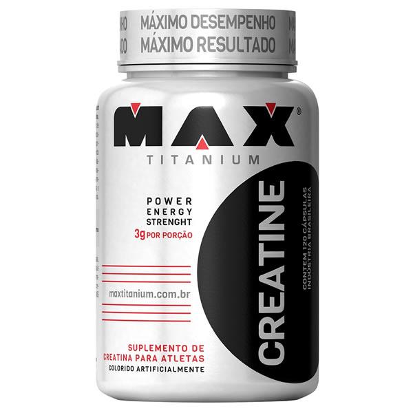 Creatina 120 Cápsulas - Max Titanium