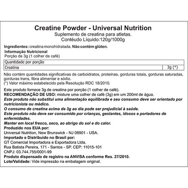 Creatina 200g - Universal