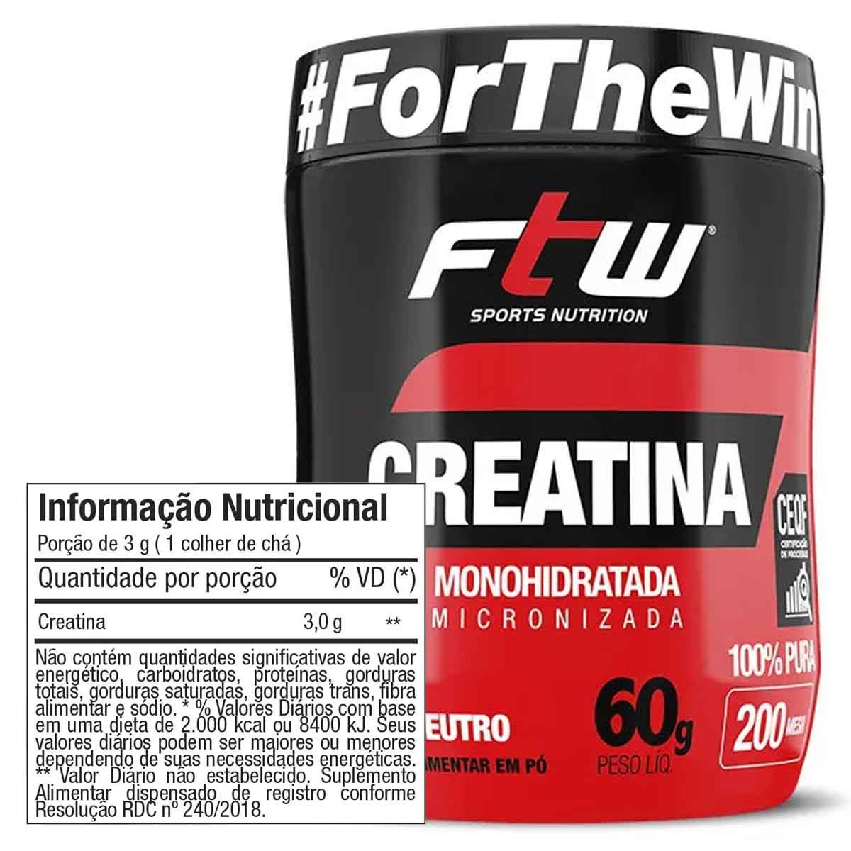 Creatina 60g - FTW