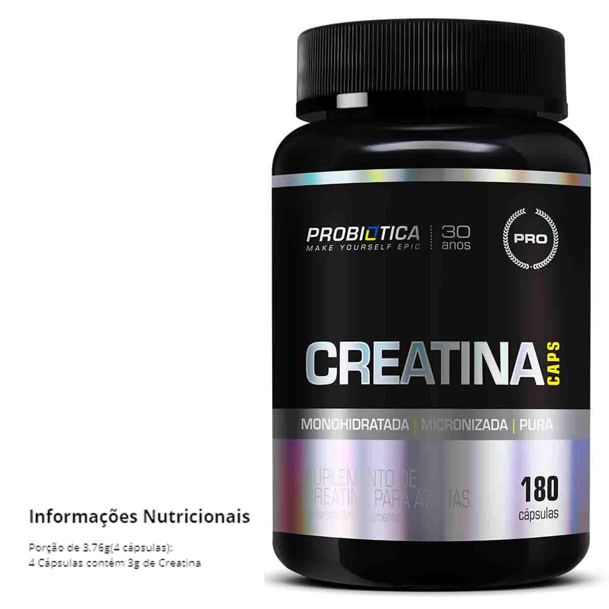 Creatina Caps 180 Cápsulas - Probiótica