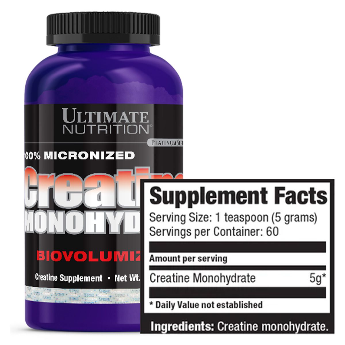 Creatina Monoidratada 300g - Ultimate Nutrition