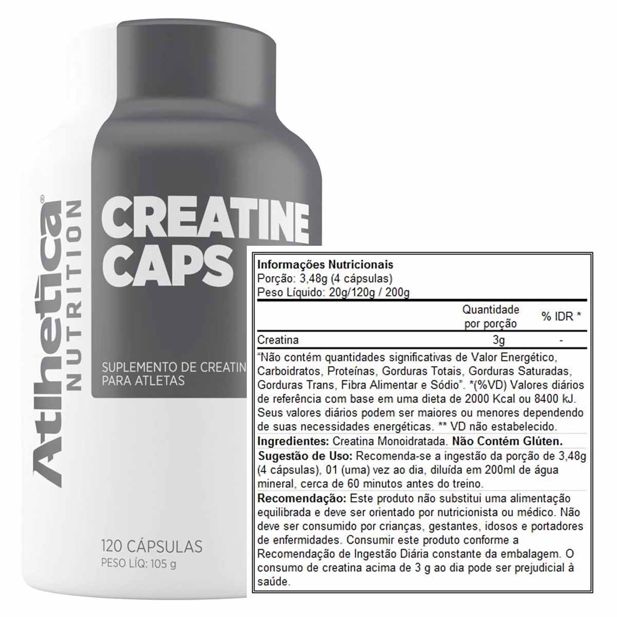 Creatina Pro Series 120 cápsulas - Atlhetica Nutrition