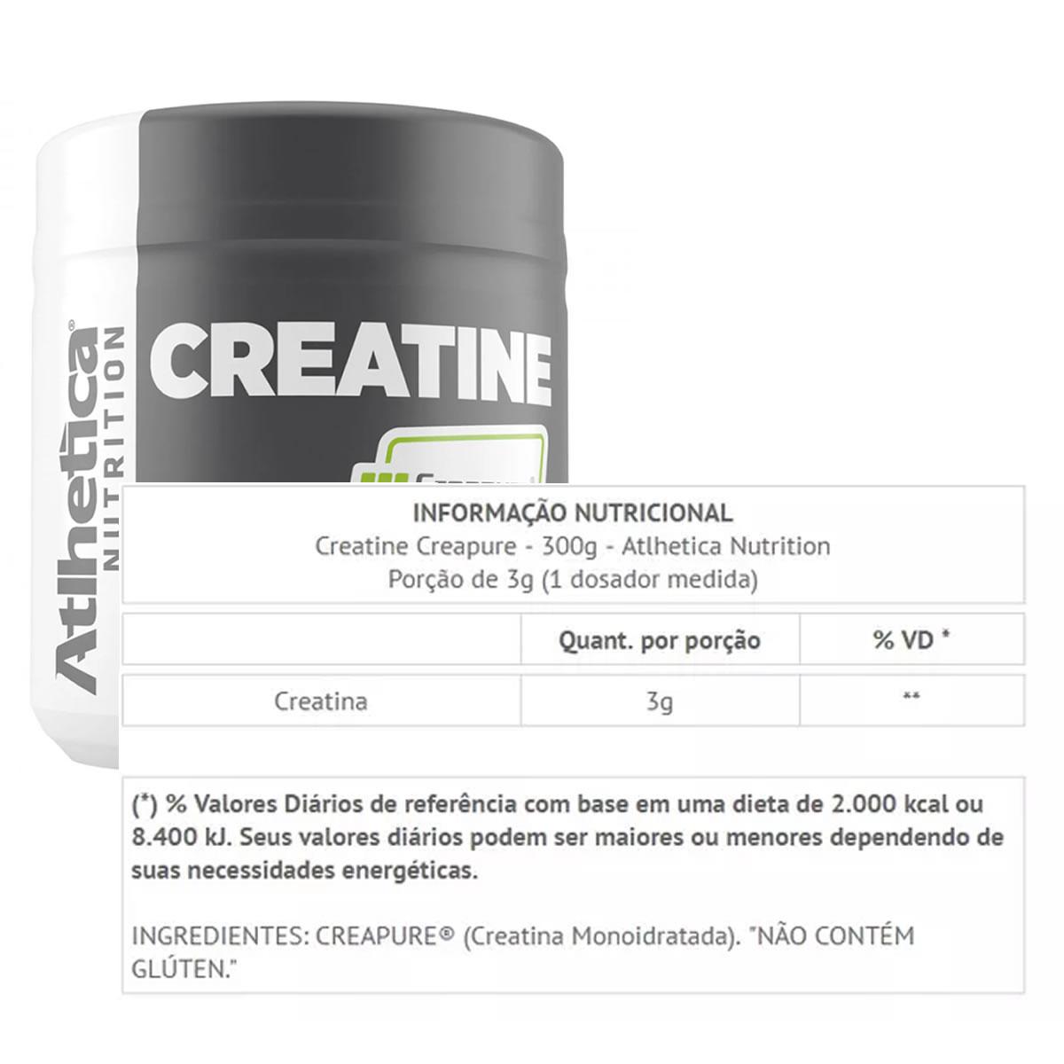 Creatine Creapure - 300g - Atlhetica