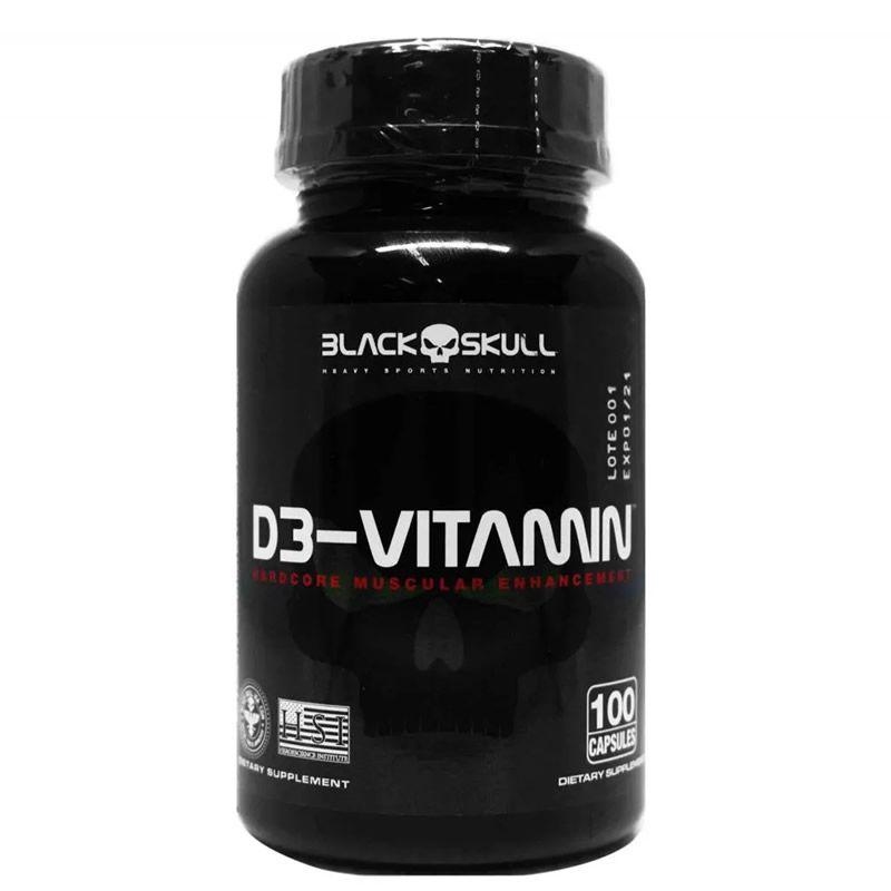 D3-Vitamin 100 Cápsulas - Black Skull