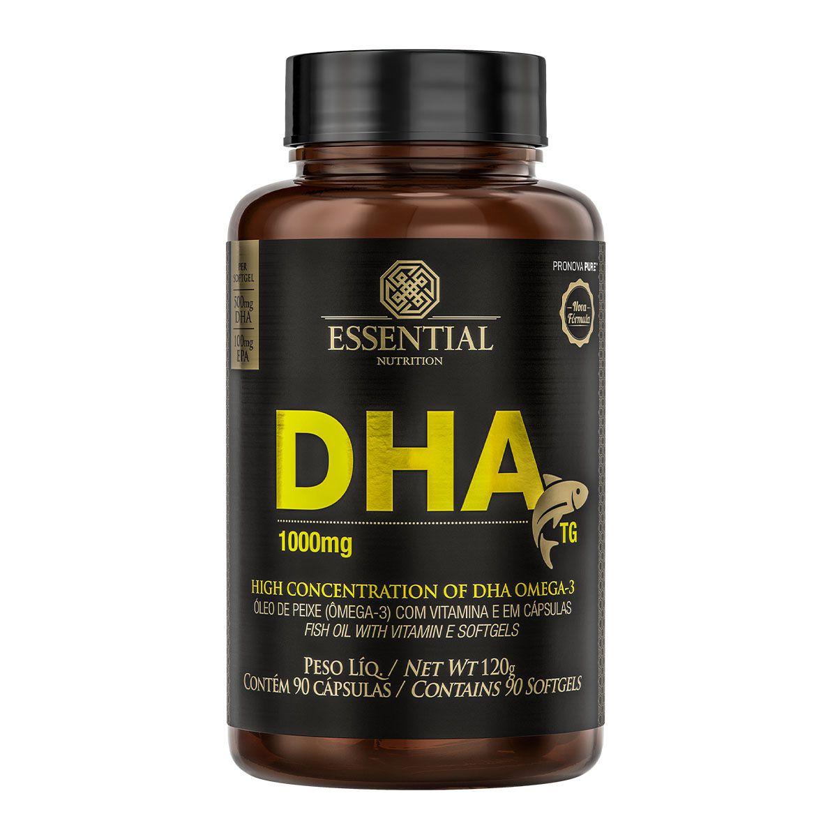 DHA 1000mg 90 Cápsulas - Essential Nutrition