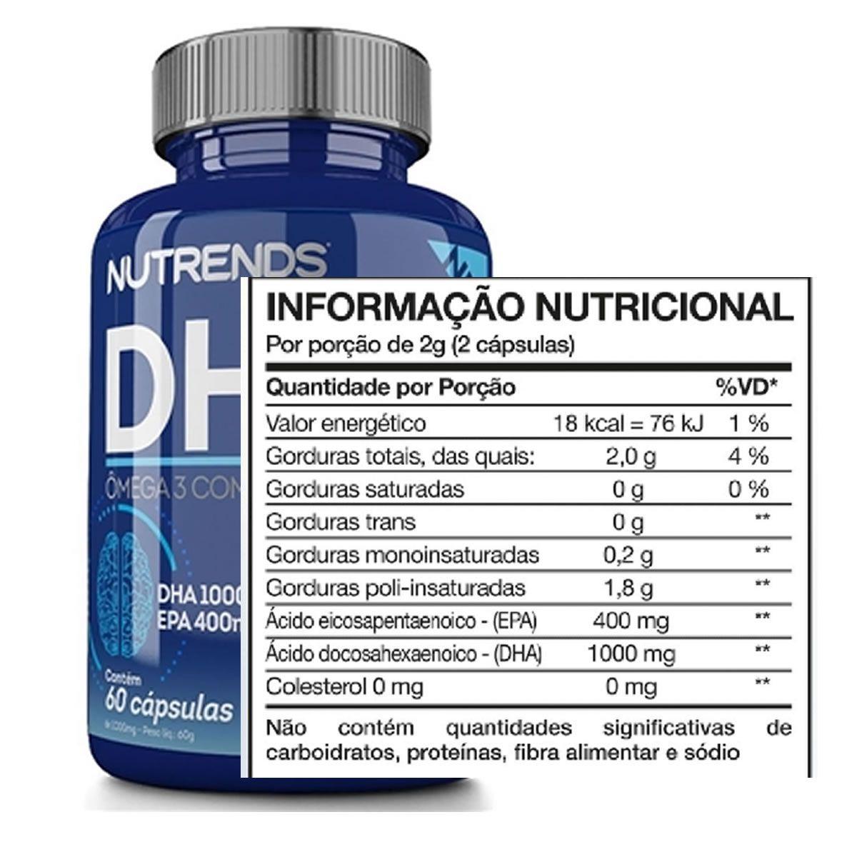 DHA Omega 3 Alta Concentração 60 Cápsulas - Nutrends