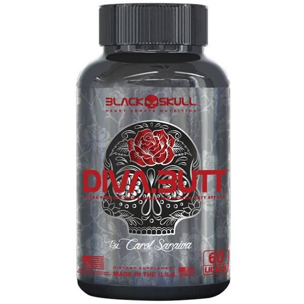 DivaButt 60 Cápsulas - Black Skull