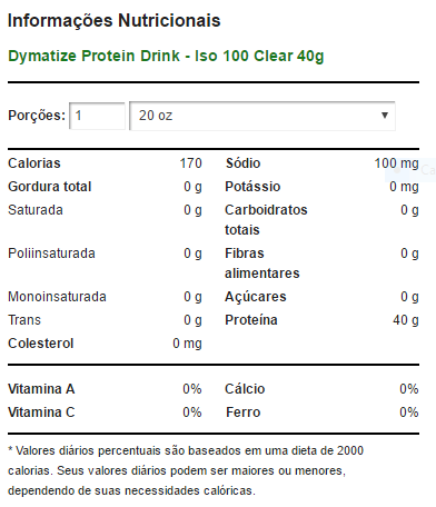 Protein Drink ISO 100 Clear 591 ml - Grape - Dymatize