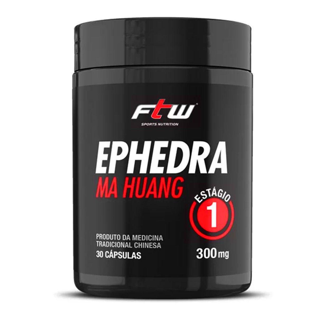 Ephedra Ma Huang 300mg - 30 Cápsulas - FTW