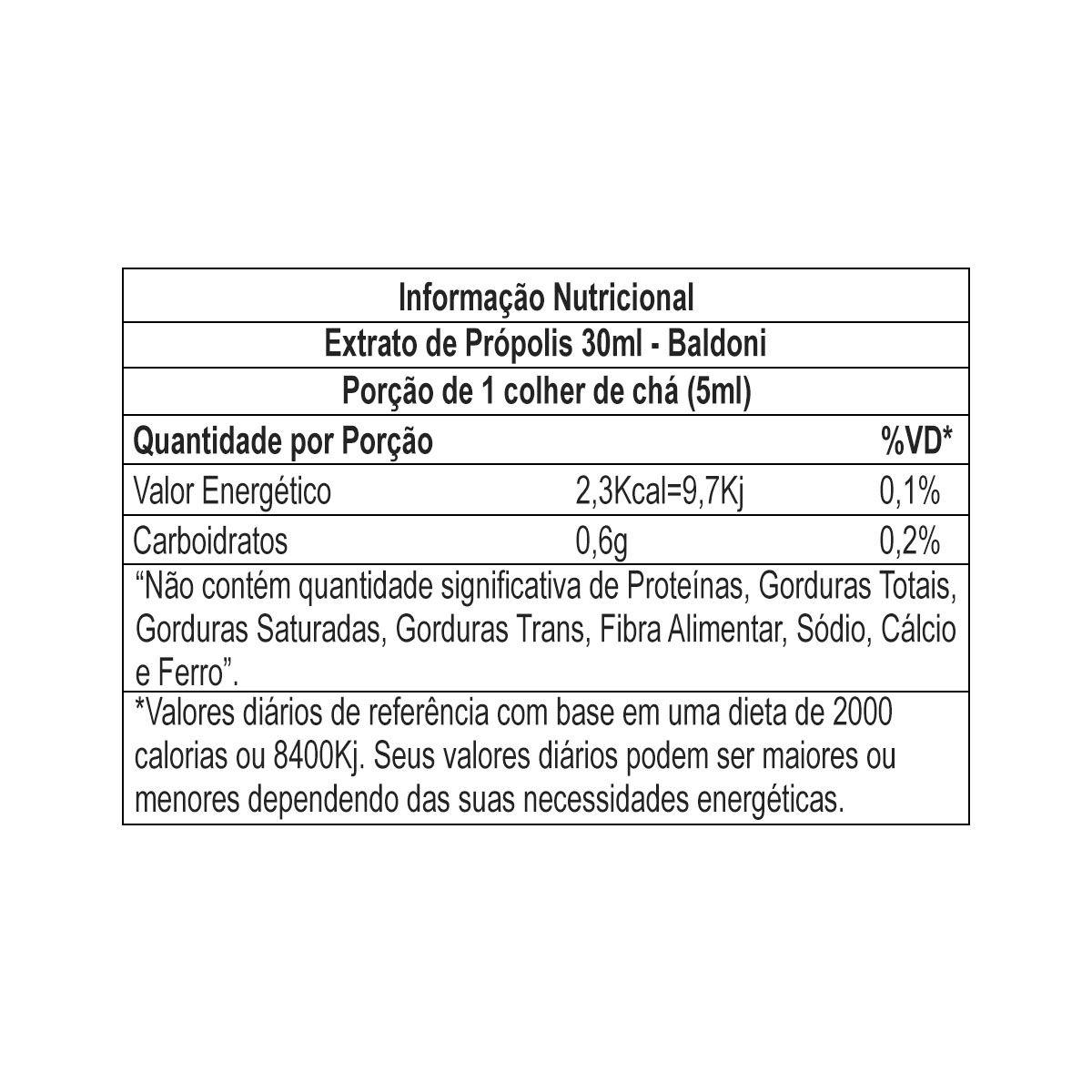 Extrato de Própolis 30ml - Baldoni