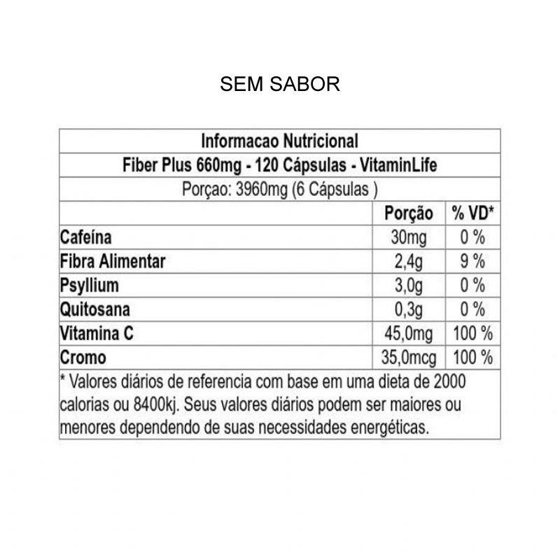 Fiber Plus 120 Cápsulas - Vitamin Life