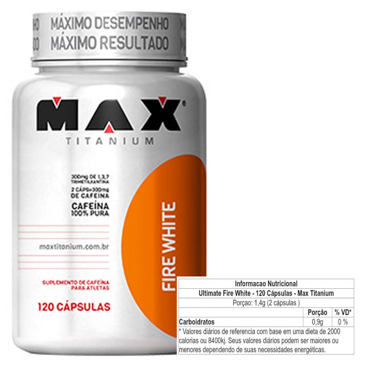 Fire White 120 Cápsulas - Max Titanium