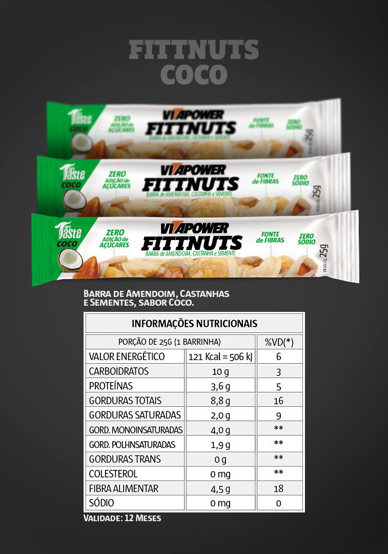 Fittnuts - 12 unidades - Vitapower