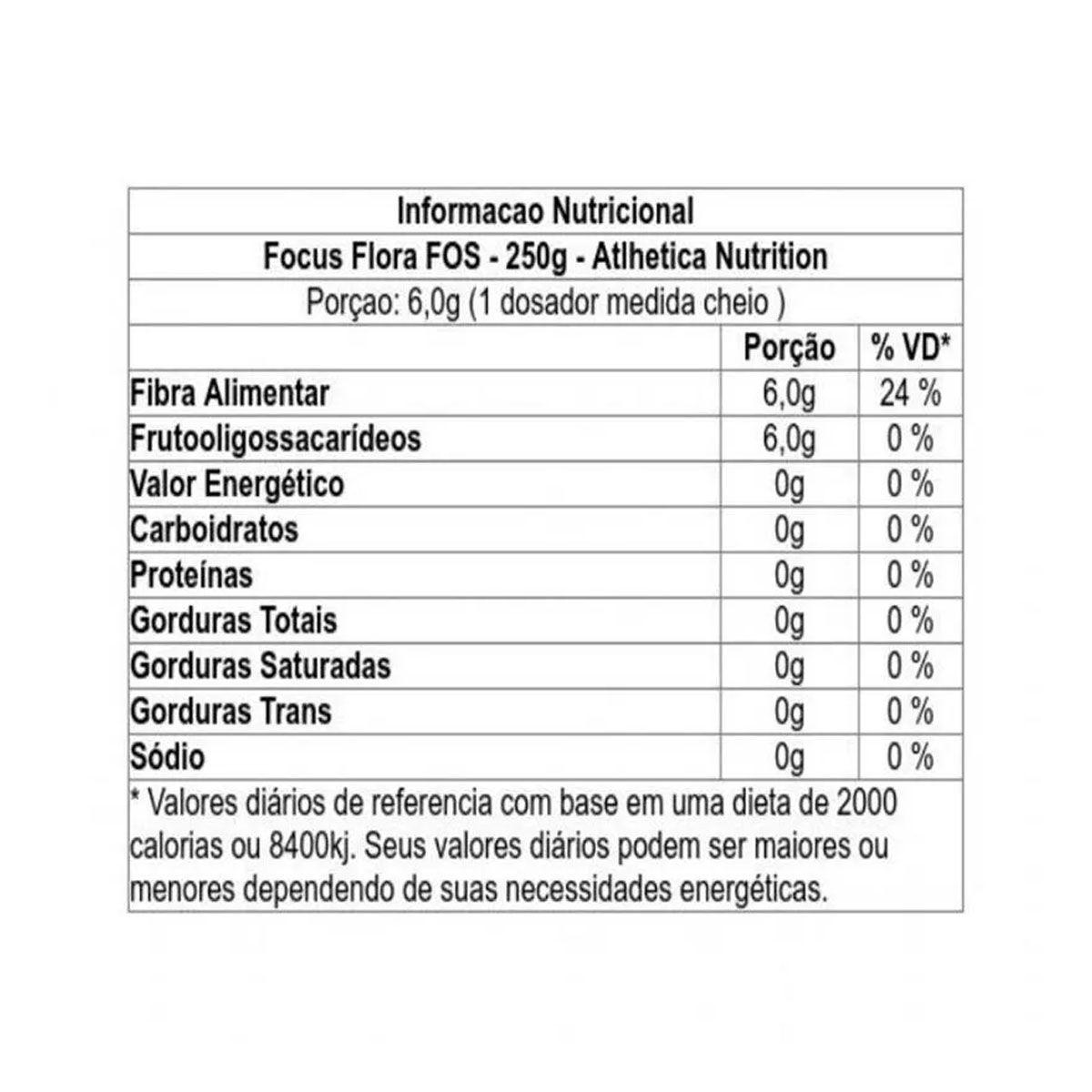 Focus Flora FOS 250g - Atlhetica Nutrition