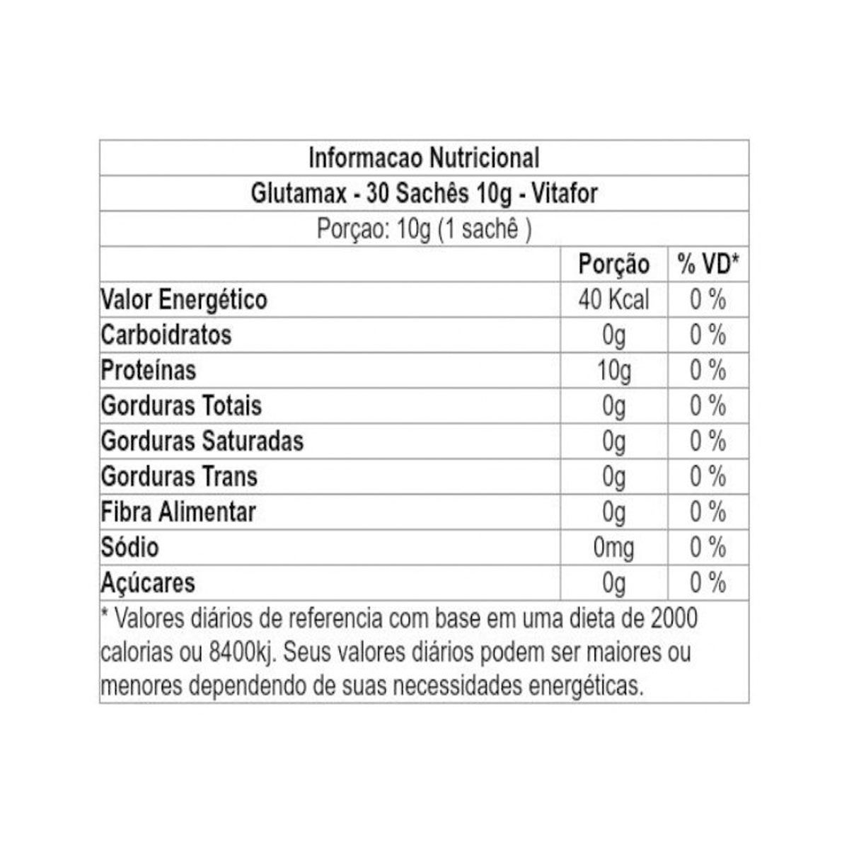 Glutamax 30 Sachês 10g - Vitafor