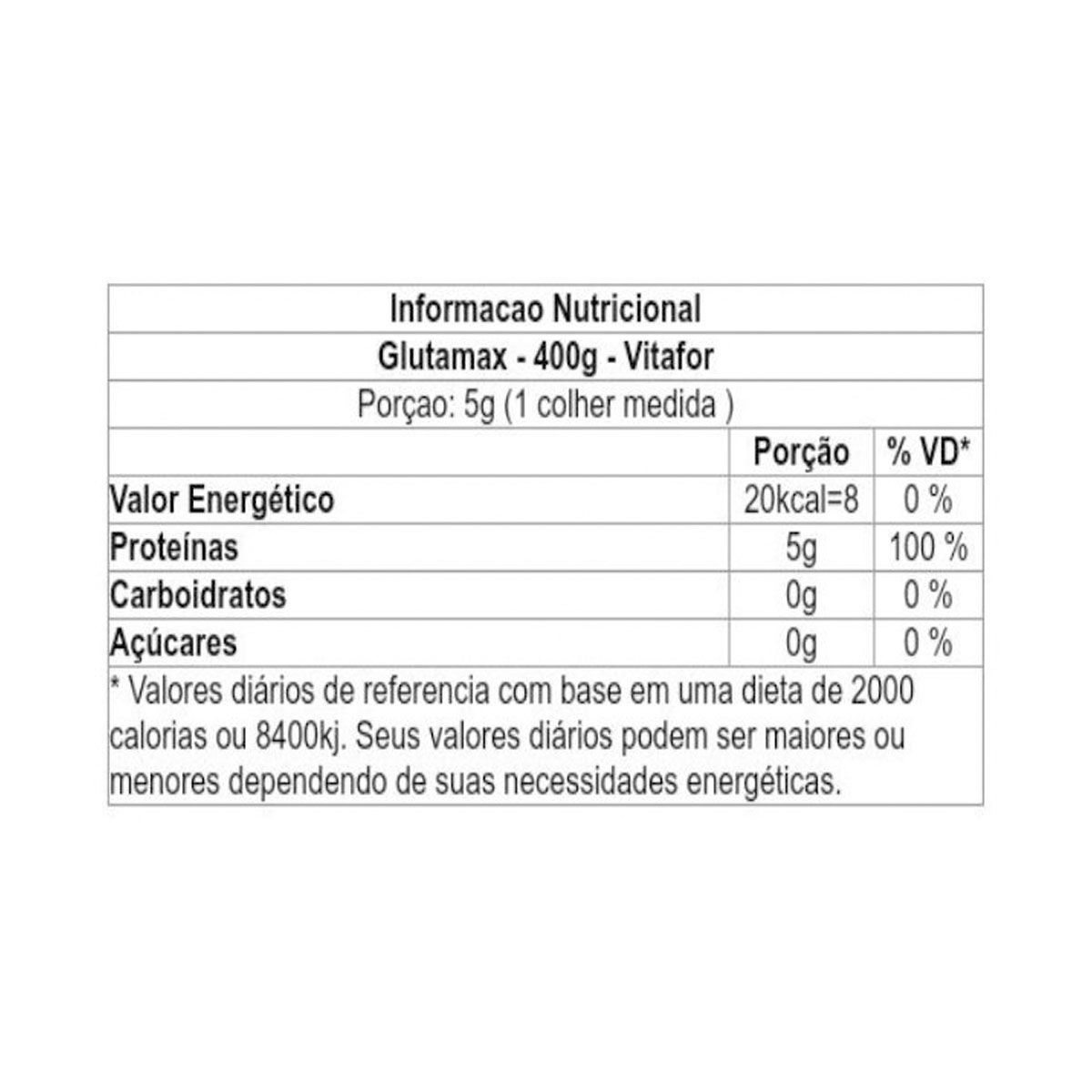 Glutamax 400g - Vitafor