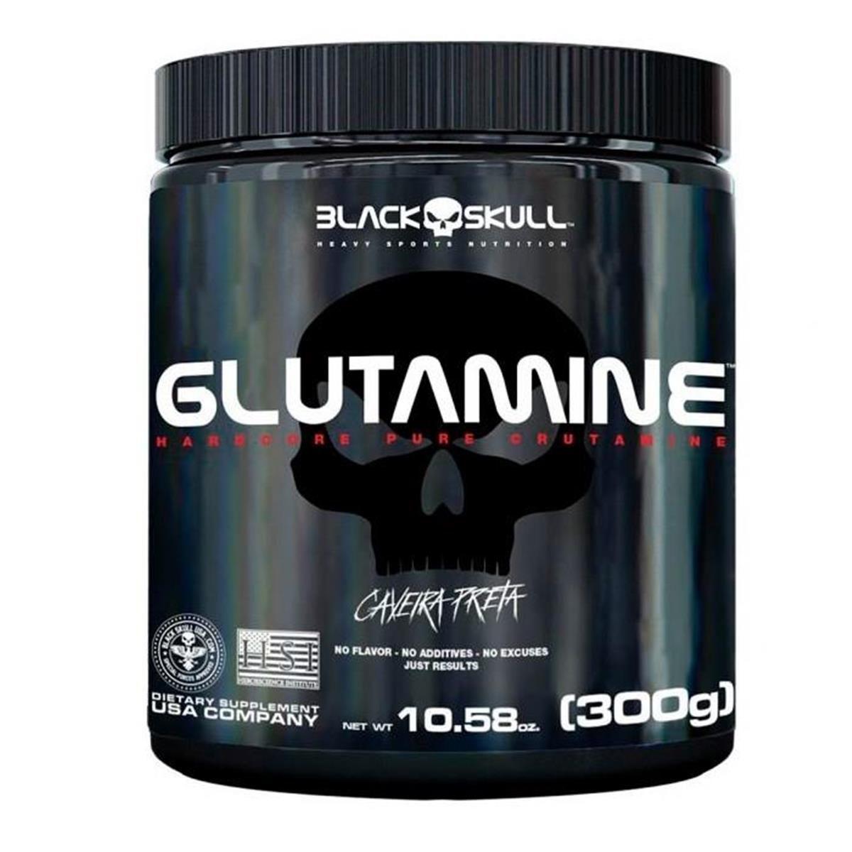 Glutamina 300g - Black Skull