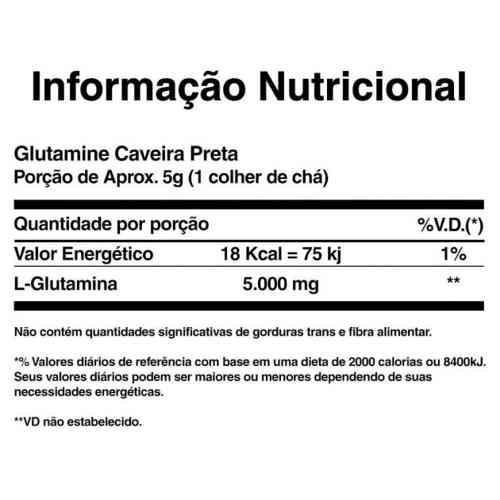 Glutamine 500 g - Black Skull