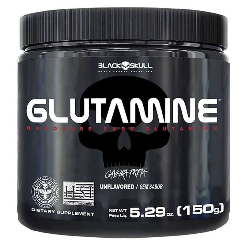 Glutamine Caveira Preta 150g - Black Skull