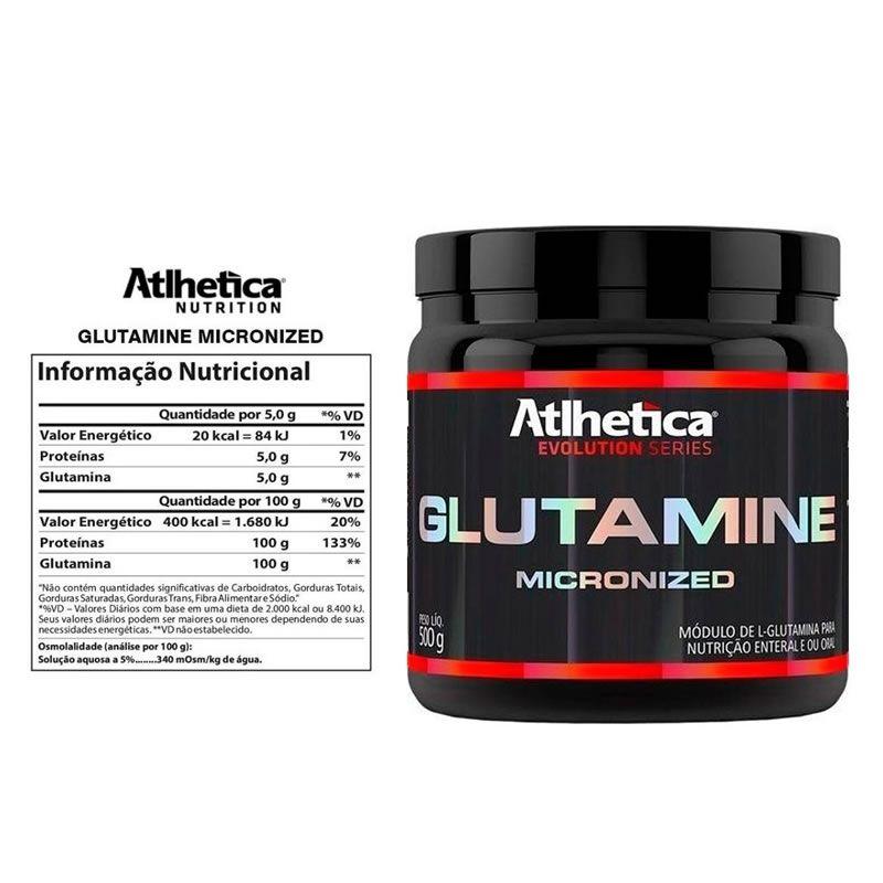 Glutamine Micronized - 500 g - Atlhetica