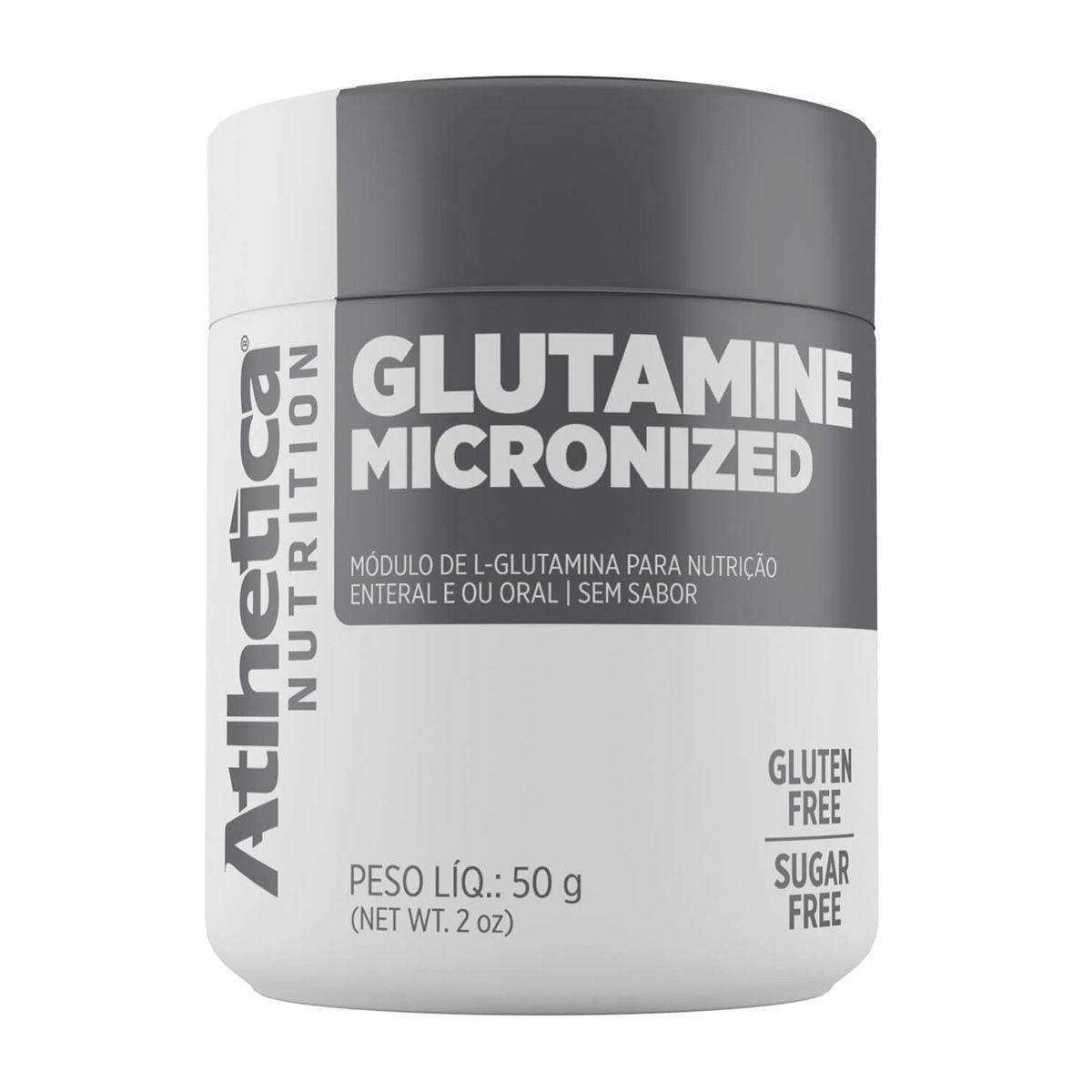 Glutamine Micronized - 50g - Atlhetica Nutrition