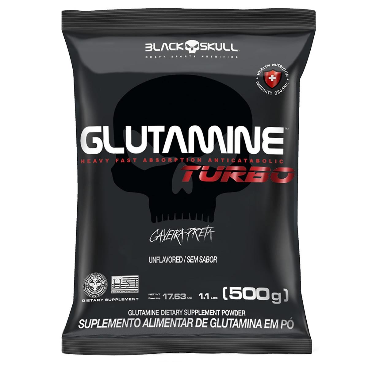 Glutamine Turbo 500g - Black Skull