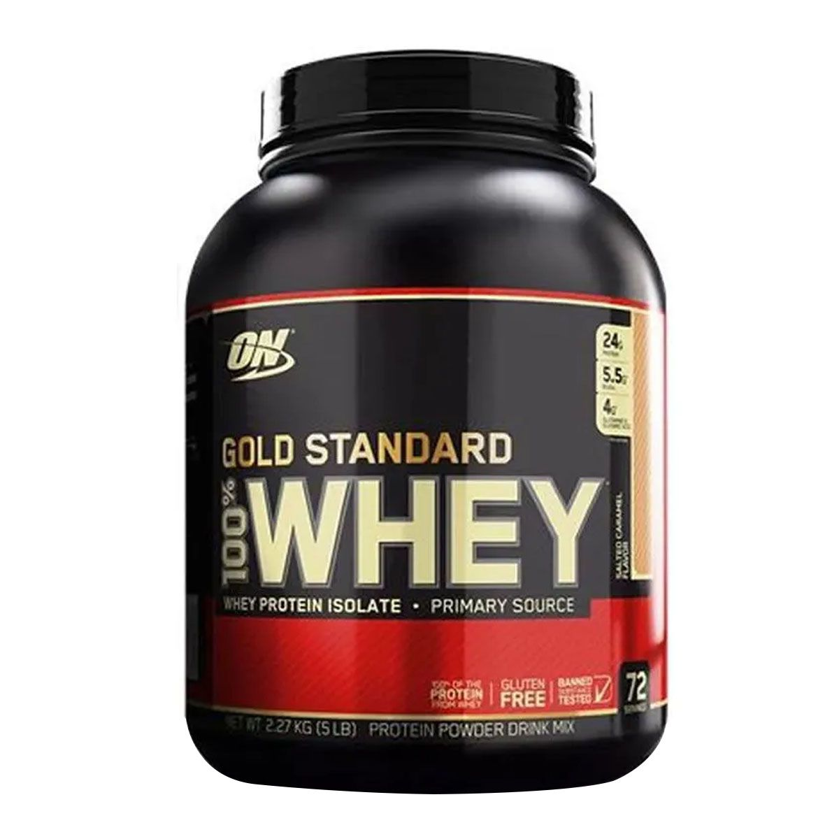 Gold Standard Salted Caramel 2,2kg - Optimum Nutrition Válidade: 12/2020