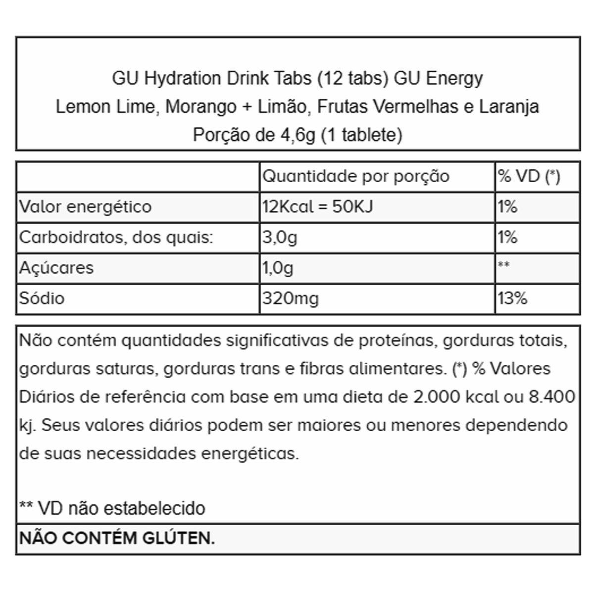 Gu Energy Tabs - 8 Unidades - Gu Energy
