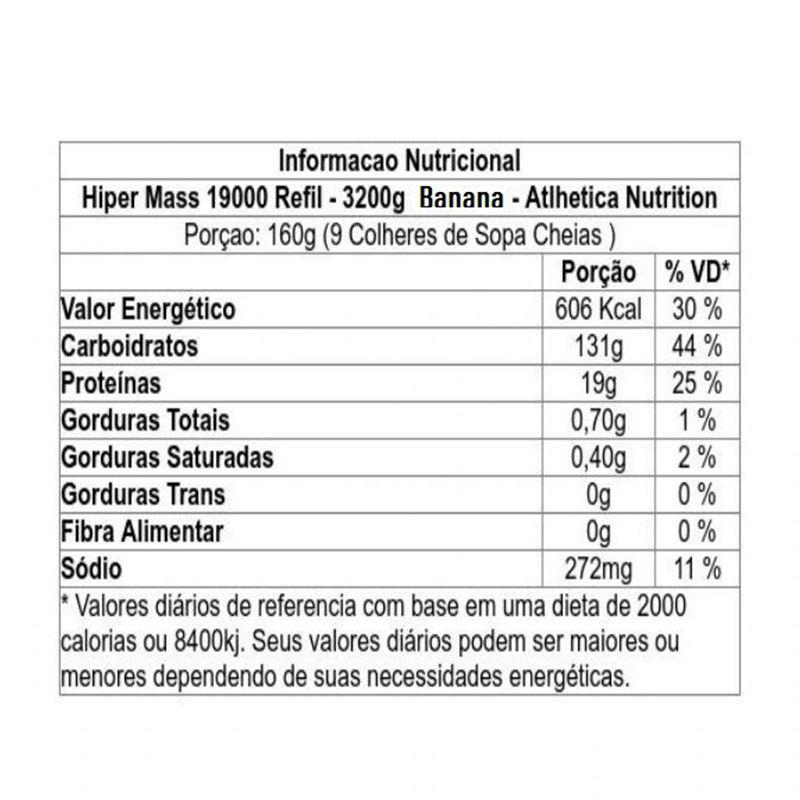 Hiper Mass 19000 3,2kg - Atlhetica Nutrition
