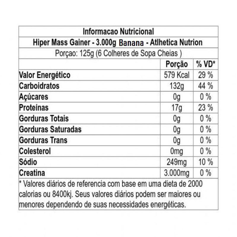 Hiper Mass 3kg - Atlhetica Nutrition