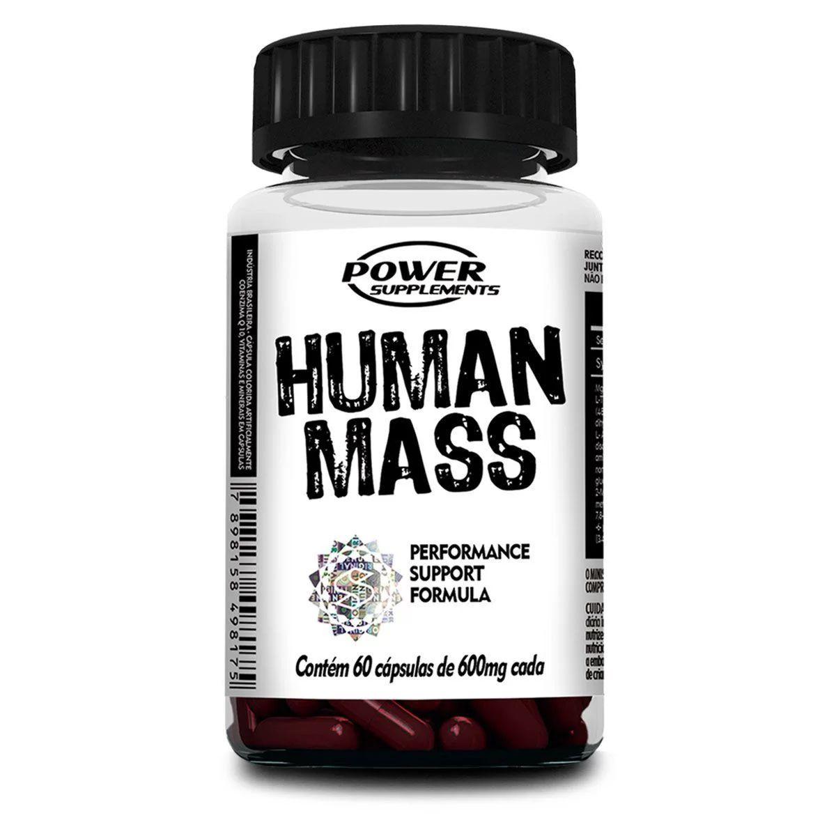 Human Mass - 60 Cápsulas - Power Supplements