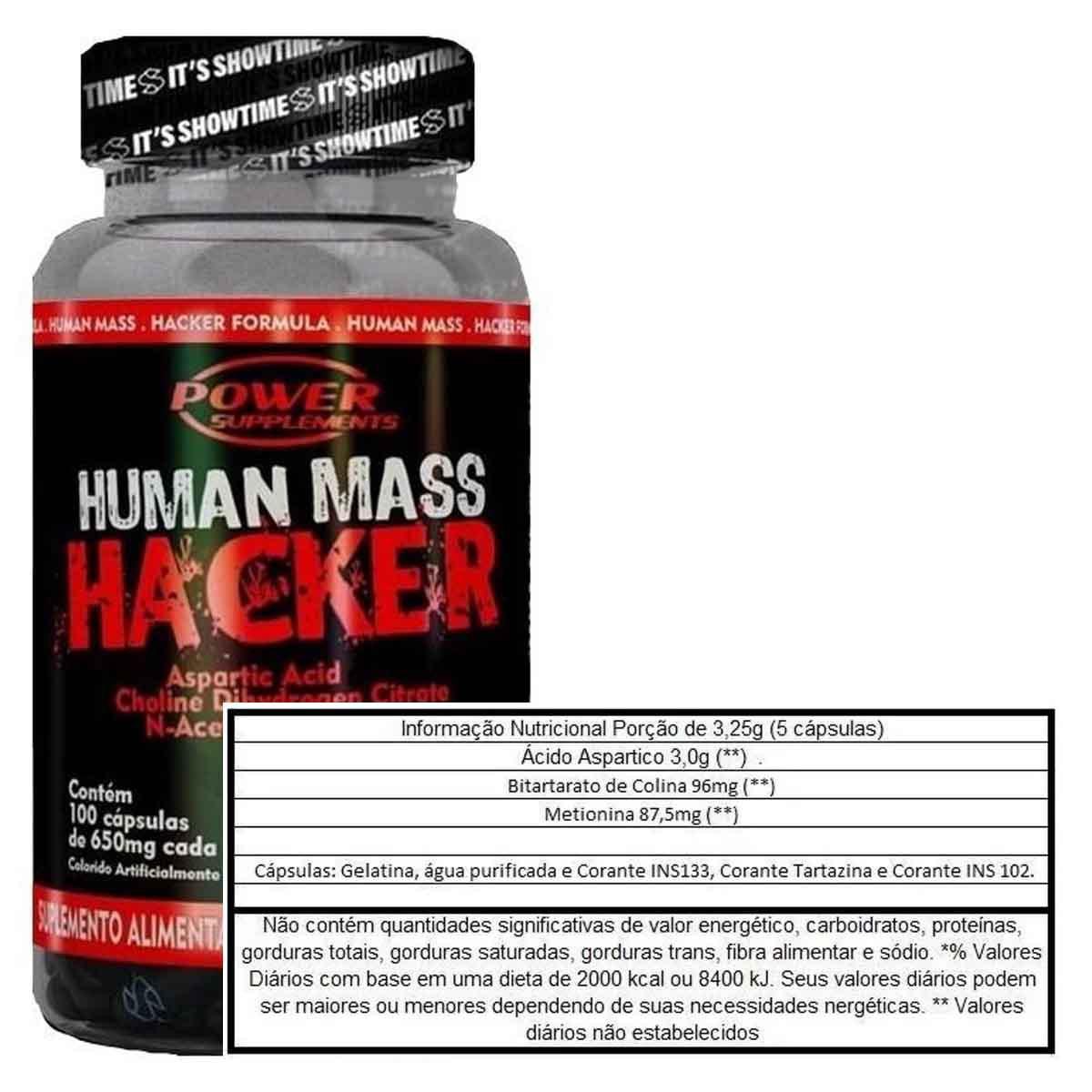 Human Mass Hacker 100 cápsulas - Power Supplements