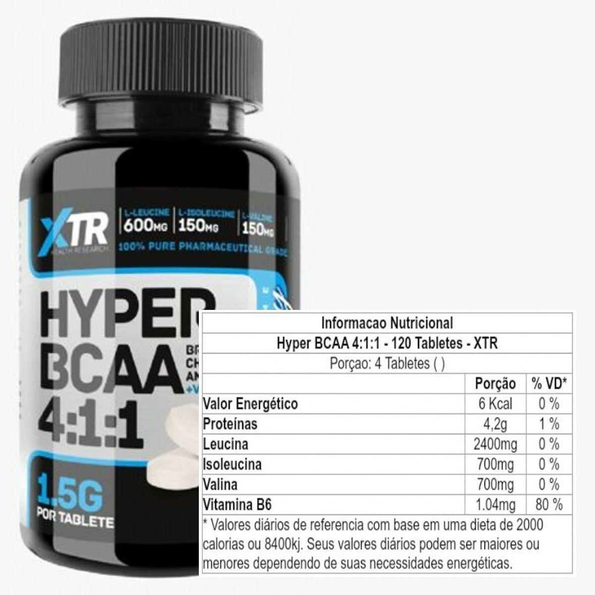 Hyper BCAA 4:1:1 120 tabletes - XTR