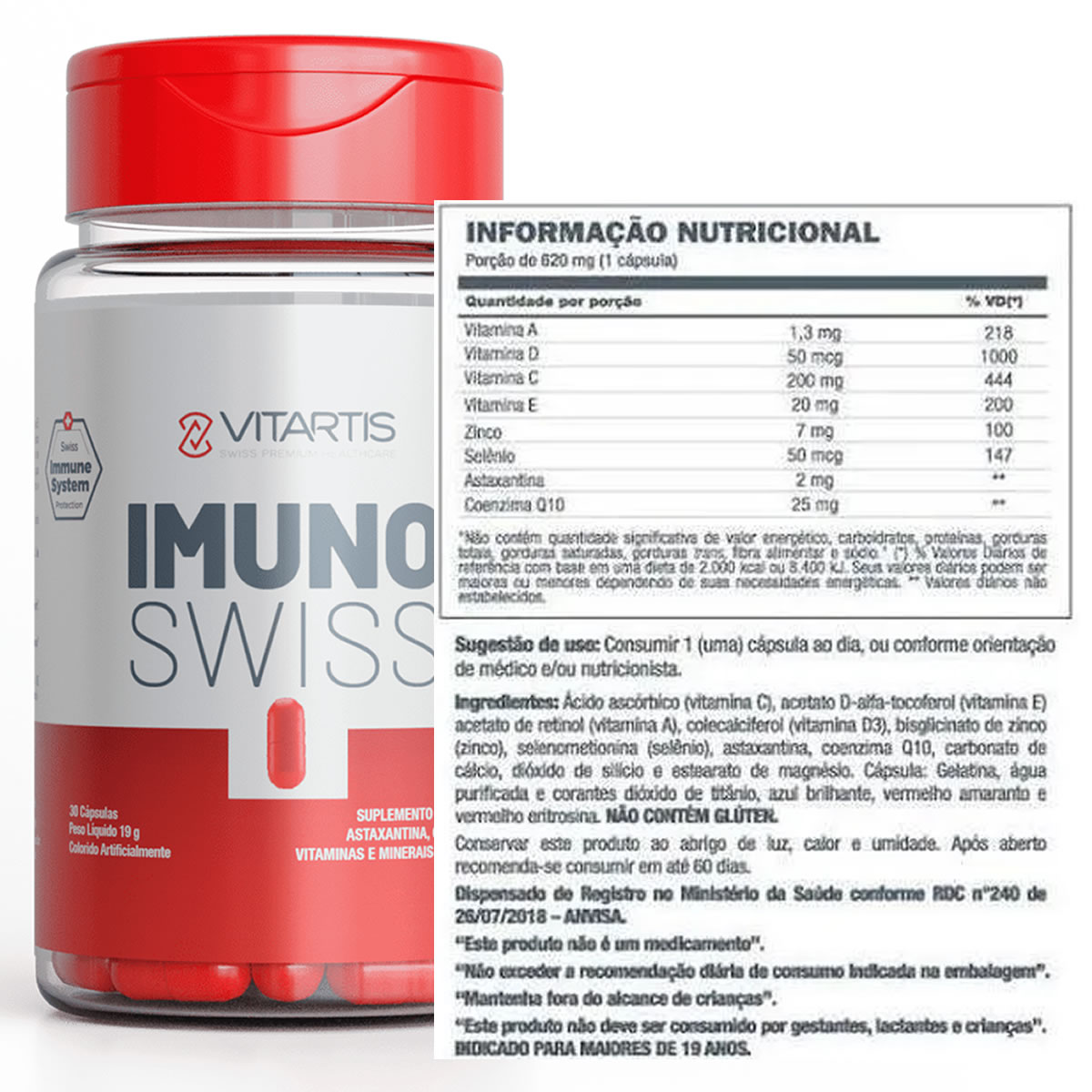 Imuno Swiss 60 Cáps - Vitartis
