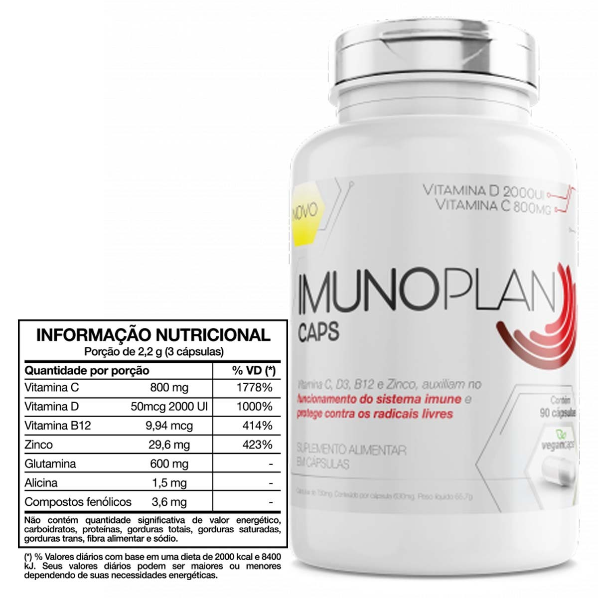 ImunoplanVitamina D+ZINCO  60 Cápsulas - Nutrends