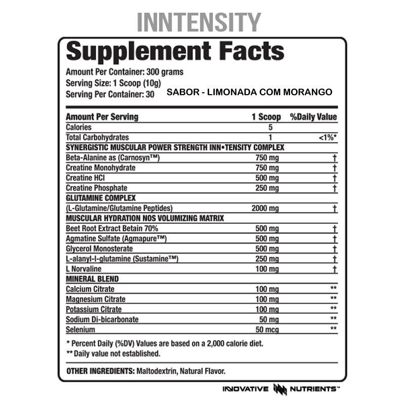 In Tensity 330g  - Innovative Nutrients
