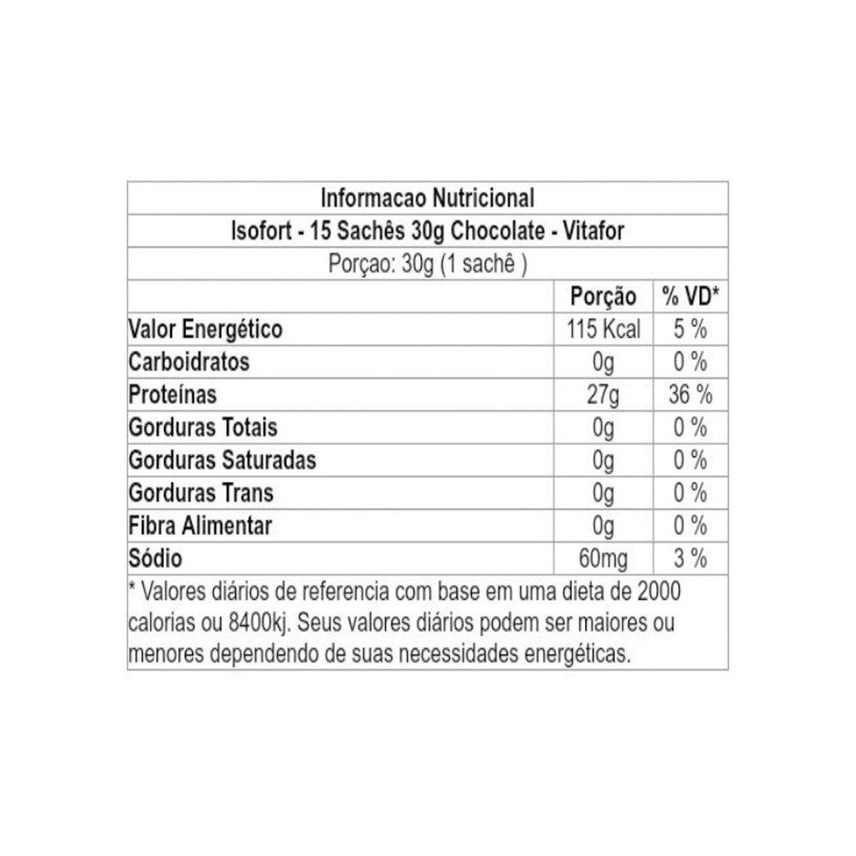 Isofort 15 Sachês - Vitafor