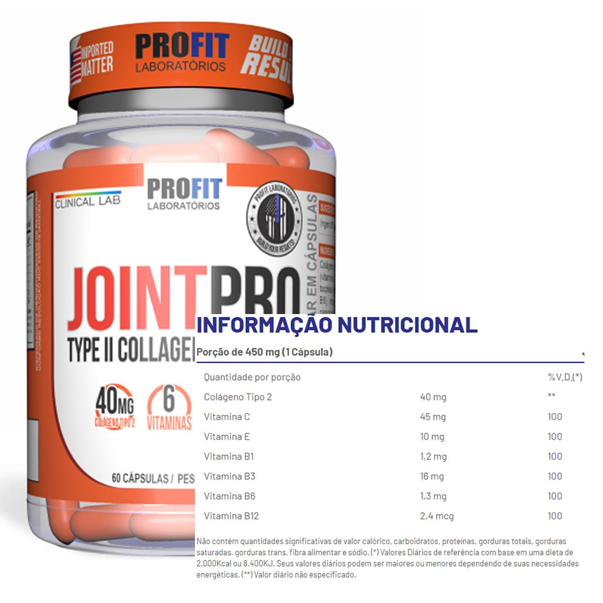 Joint Pro Colágeno Tipo 2 60 Cáps - Profit