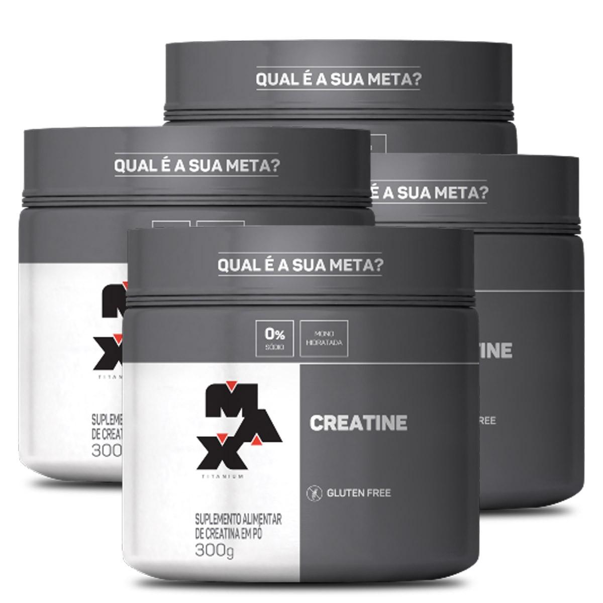 Kit 4 Creatina / Creatine 300g - Max Titanium