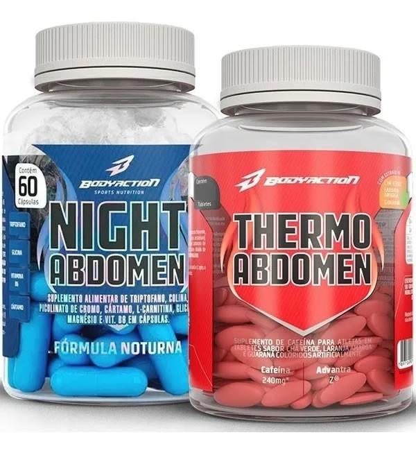 Kit Emagrecedor Dia e Noite / Thermo Abdomen + Night Abdomen - Body Action