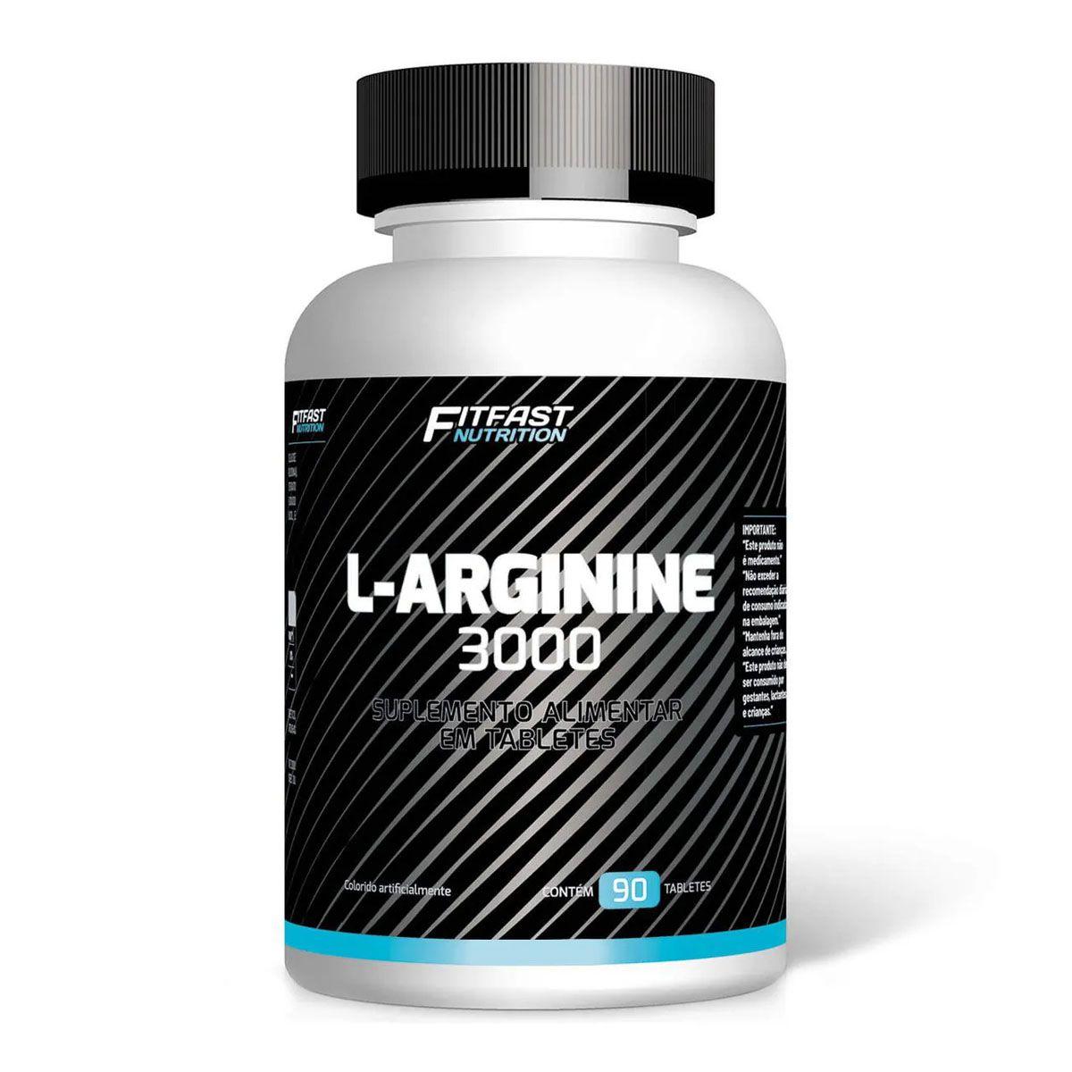 L-Arginine 3000 90 Tabletes - Fit Fast