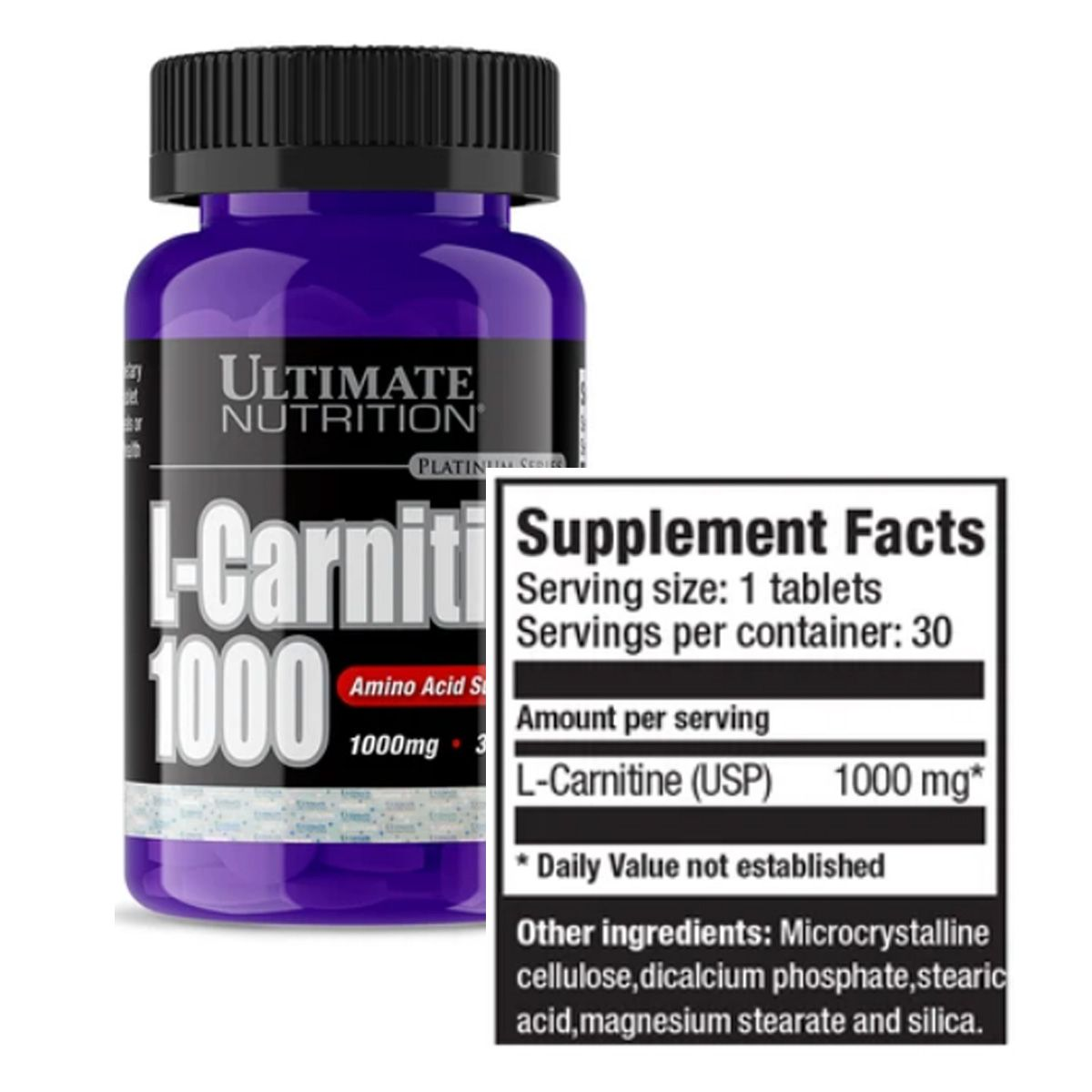 L-Carnitina 100mg 30 cápsulas - Ultimate Nutrition
