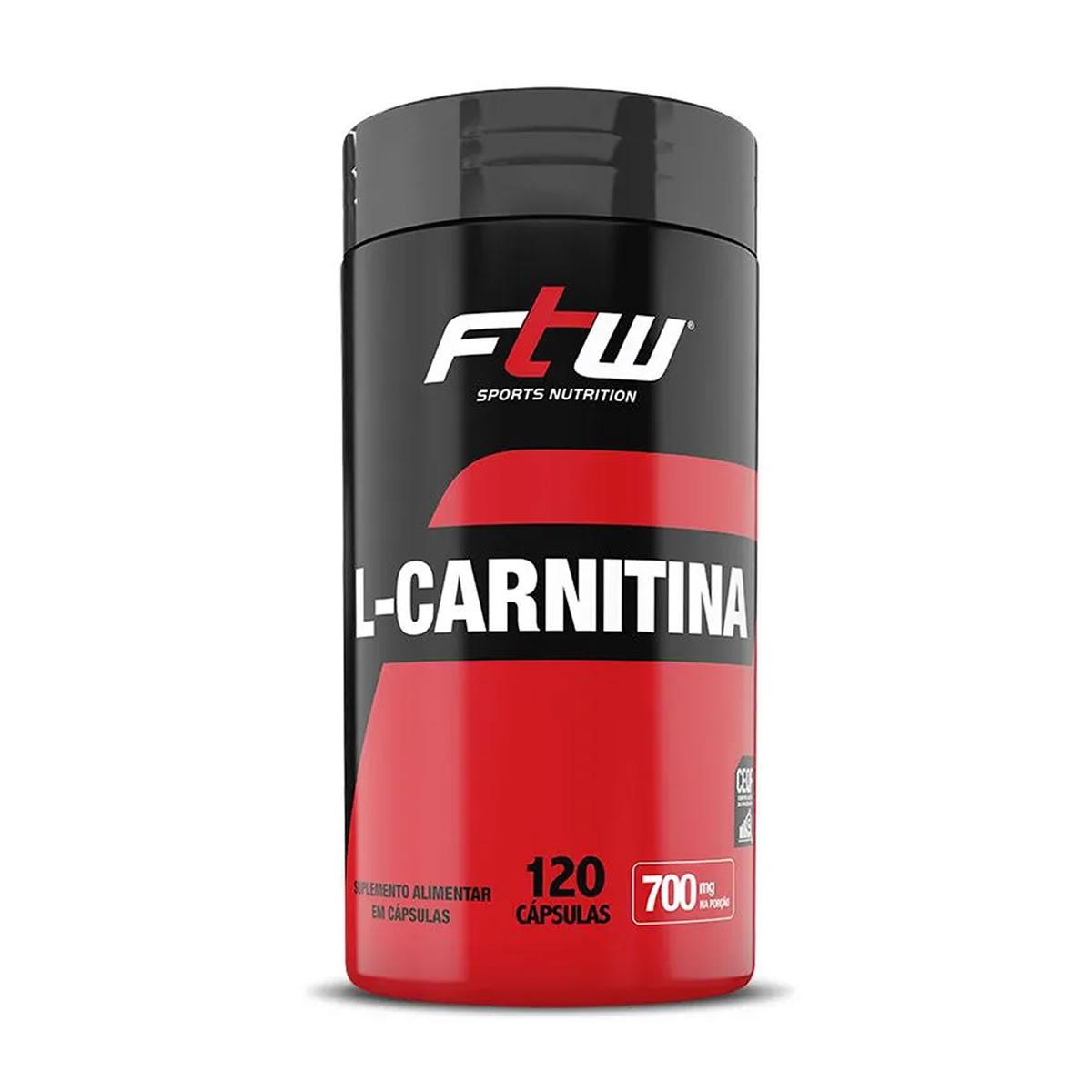 L-Carnitina 350mg 120 Cápsulas - FTW