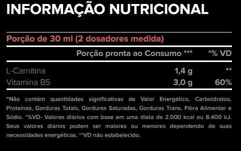 L-CARNITINE 3000 - 480ML - Atlhetica Nutrition