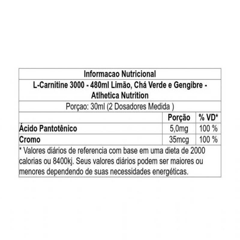 L-Carnitine 3000 480ML - Atlhetica Nutrition